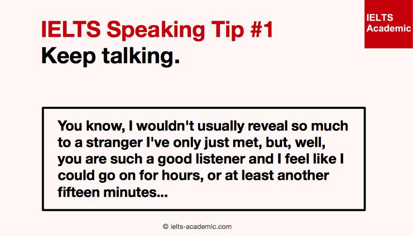 IELTS Speaking Tip 1