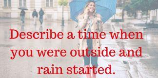 rain started  Archives - IELTS FEVER