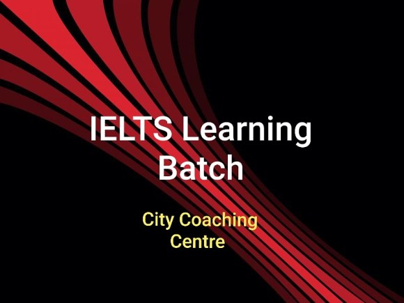 IELTS Learning Batch