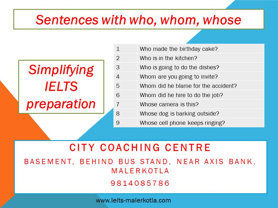 sentences with who