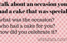 talk about an occasion you had a cake that was special.