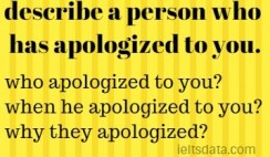 describe a person who has apologized to you.