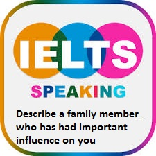 Describe a family member who has had important influence on you