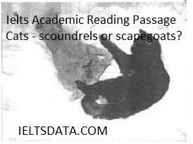 Ielts Academic Reading Passage Cats - scoundrels or scapegoats?