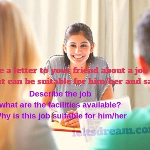 Write a letter to your friend about a job offer that can be suitable for him/her