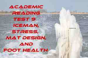 Academic Reading Test 9 Iceman, Stress, Mat Design, And Foot Health