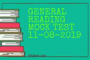 General Reading mock Test 11-08-2019
