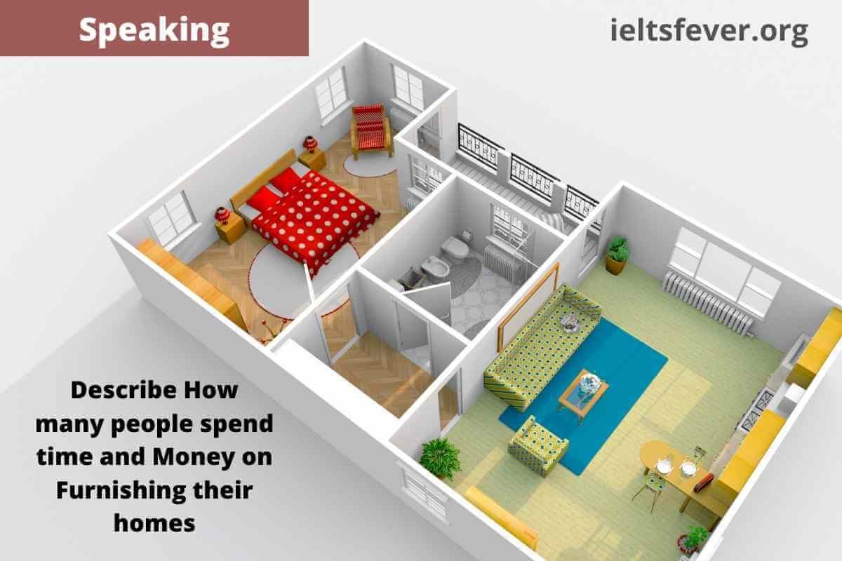 Describe How many people spend time and Money on Furnishing their homes