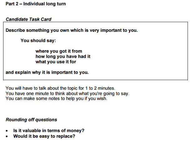 IELTS Speaking Task 2 Card