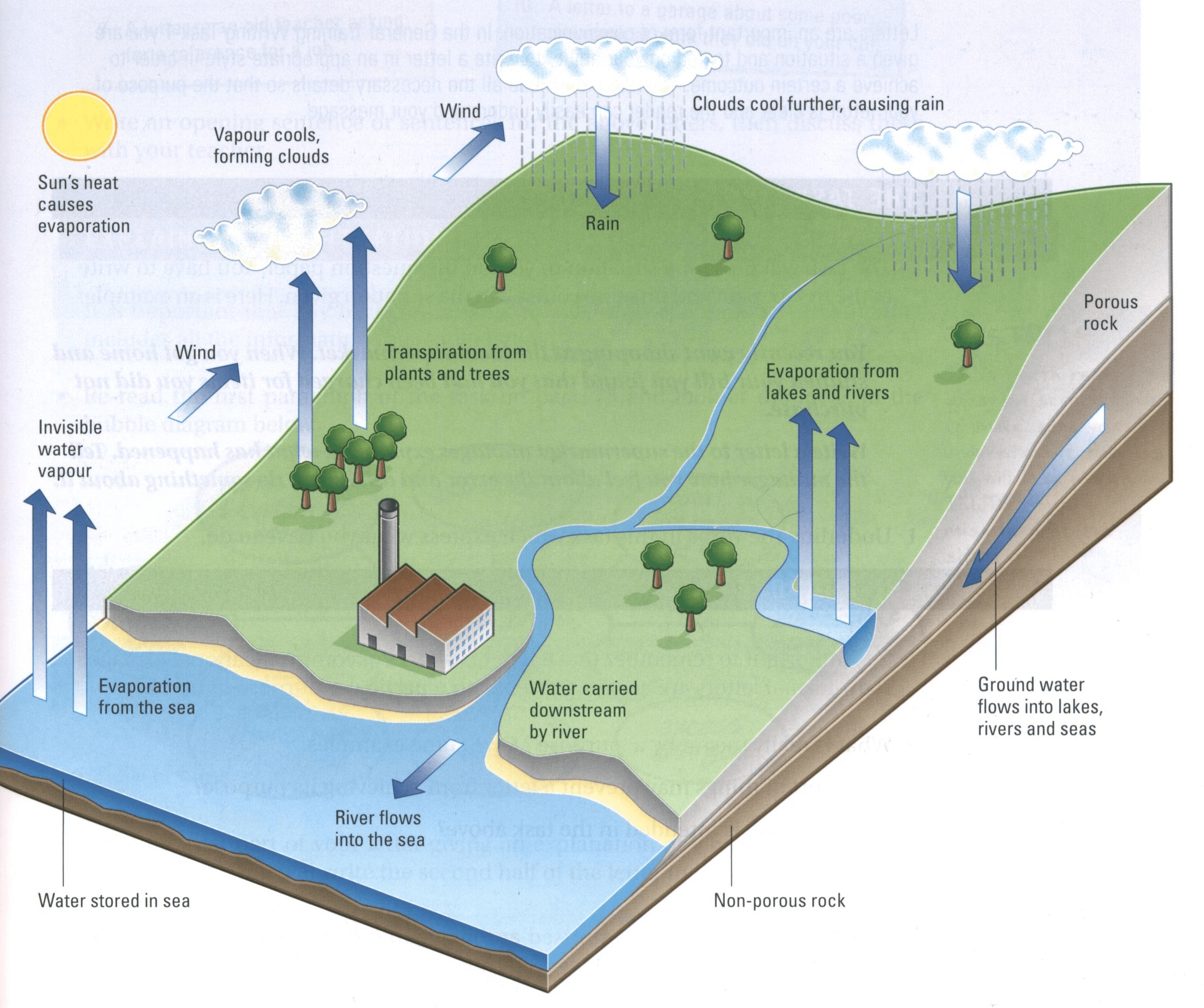 Ielts sample charts for writing task 1 water cycle ielts diagram ccuart Images
