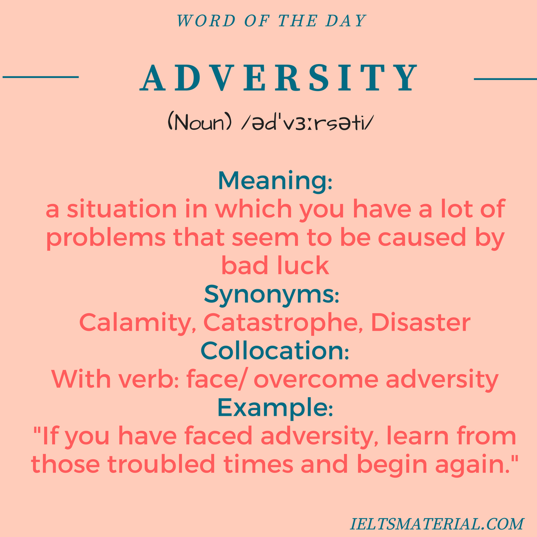 Adversity Word Of The Day For IELTS Speaking And Writing