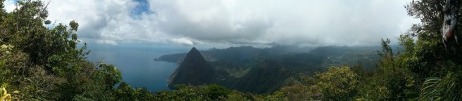 A Piton climb for the view, St Lucia.