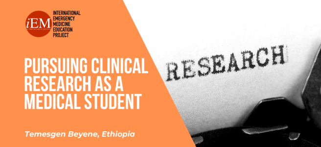 Pursuing clinical research as a medical student