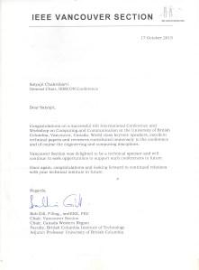 Section Appreciation Letter