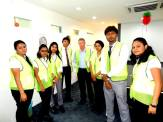 Vesuvius PK - Malaysia visit 2014- students with Head (Operations)