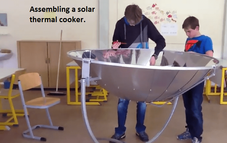 Parabolic Solar Thermal Cooker