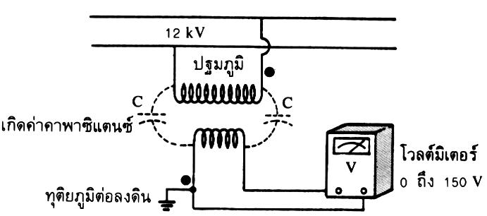 การต่อ pt ในระบบแรงดัน 12 kV