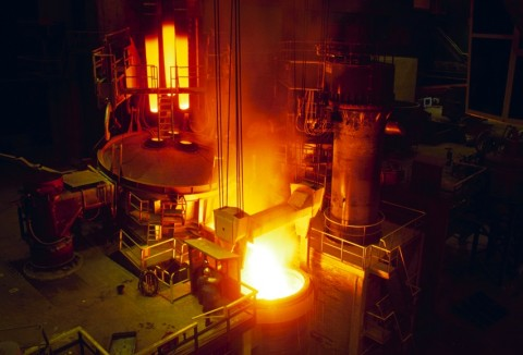 Electric-Arc-Furnace-in-operation
