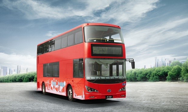 Chinese-built zero-emissions electric bus prepares for service in London