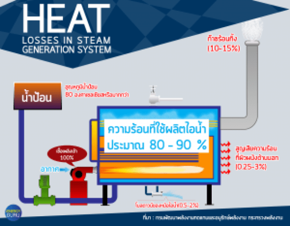 Heat Losses in Steam Generation System