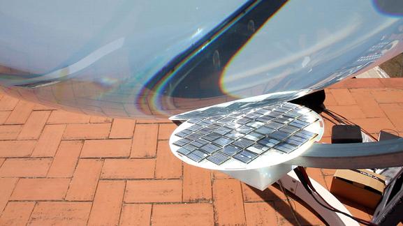 ลูกแก้วดวงตะวันผลิตไฟฟ้า THE SPHERICAL SUN POWER GENERATOR