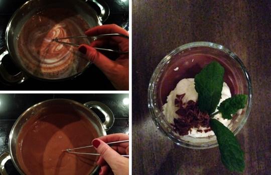 Litt koking og litt røring, og puddingen er klartil å settes til kjøling!