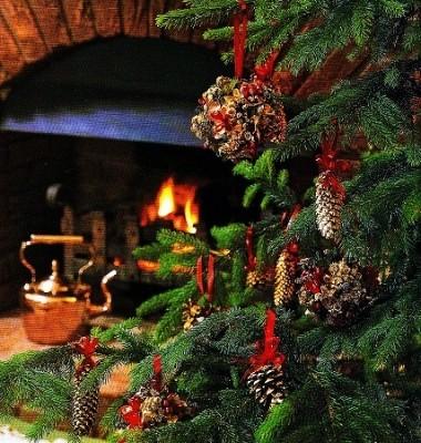 Neve spray fluorescente da 150 ml. Decorazioni Per L Albero Di Natale Pigne Globi E Ghirlande Ieri Oggi In Cucina