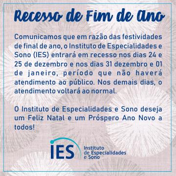 IES - RECESSO DE FIM DE ANO