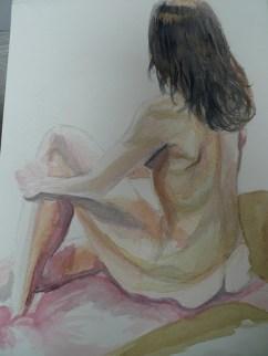 Life drawing - watercolour