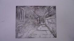 Hall, sugarlift etching