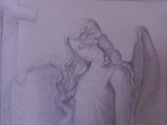 Stone angel, pencil