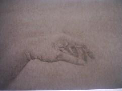 Hand, pencil
