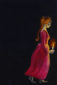 Ghost girl (pastels)