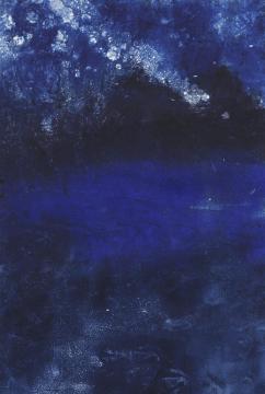 Seascape, monotype print
