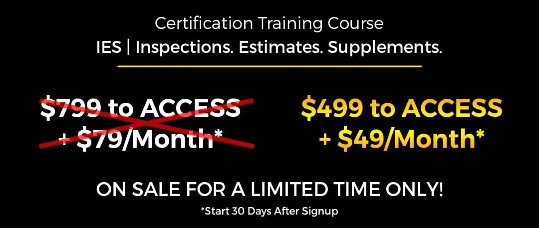 Ies Certified Inspections Estimates Supplements