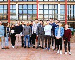 Cinco estudiantes Erasmus franceses en nuestro Centro.