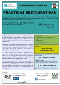 Cartel do curso de Prácticas Restaurativas