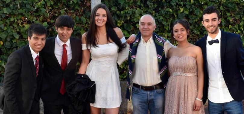 Adrián, Alberto, Nicole, Antonio, Carmelina e Javier