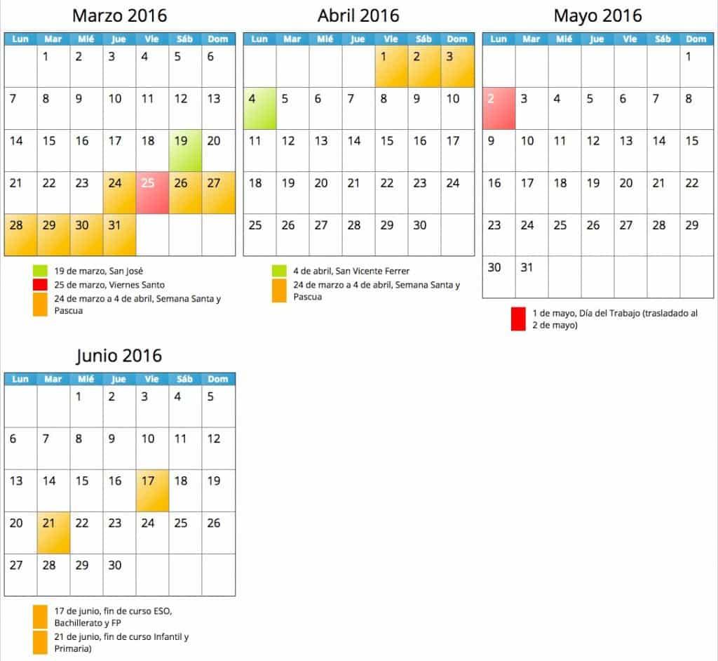 calendario escolar 2015-15