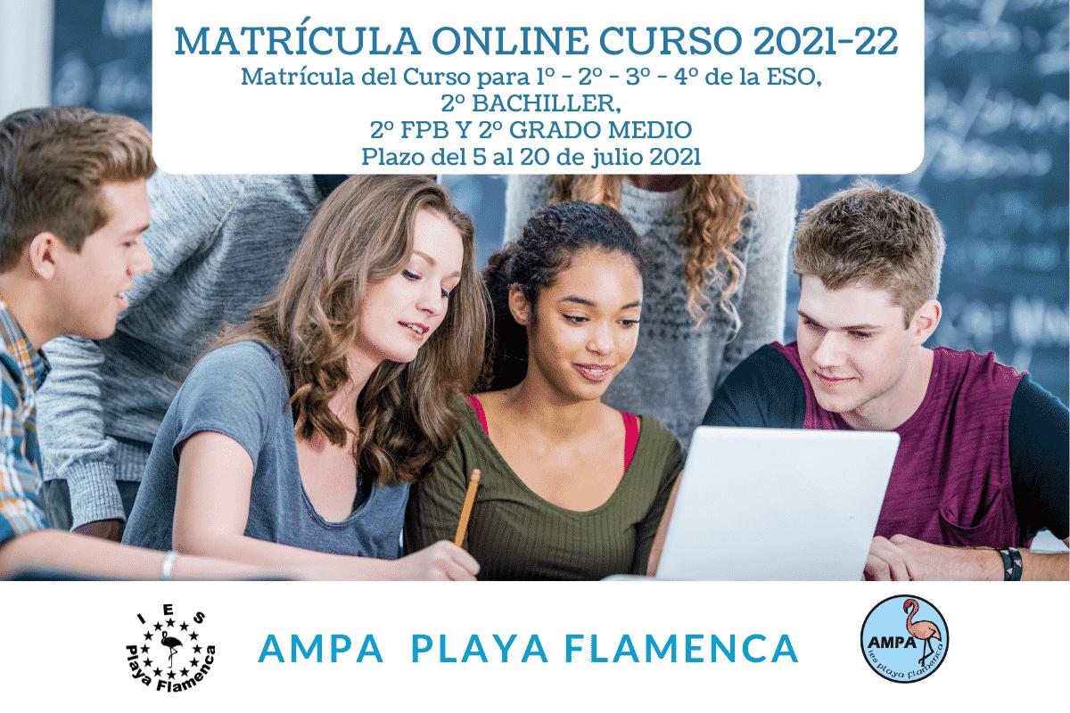 Matrícula Online Curso 2021-22
