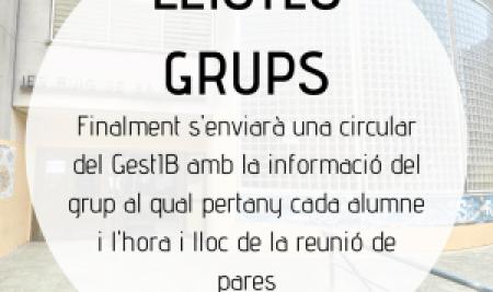 Informació sobre la llista de grups i reunions de pares