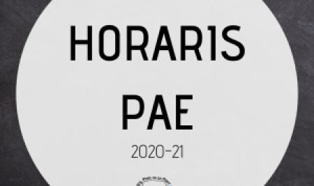 Horaris PAE 2020-21