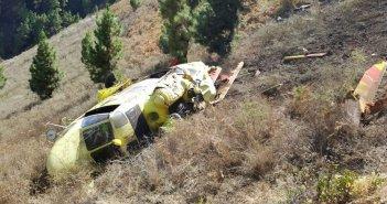 Вертолёт авария