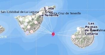 Серия небольших подземных толчков произошла на острове Тенерифе