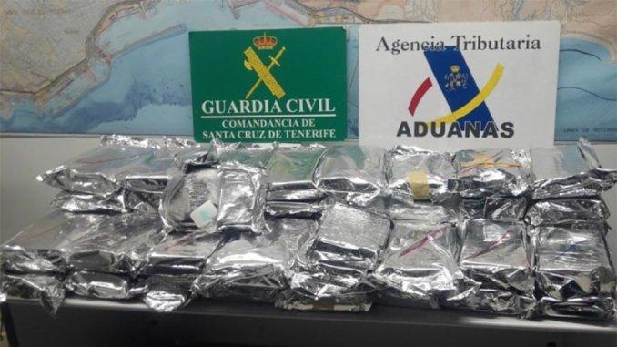 Гражданская гвардия пресекла попытку ввоза на Тенерифе большой партии кокаина