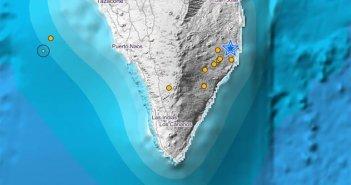 На острове La Palma зарегистрировано до 9 землетрясений за два дня