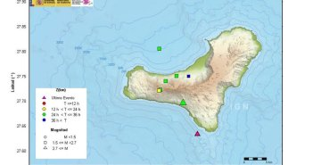 Семь землетрясений на острове El Hierro за последние 36 часов