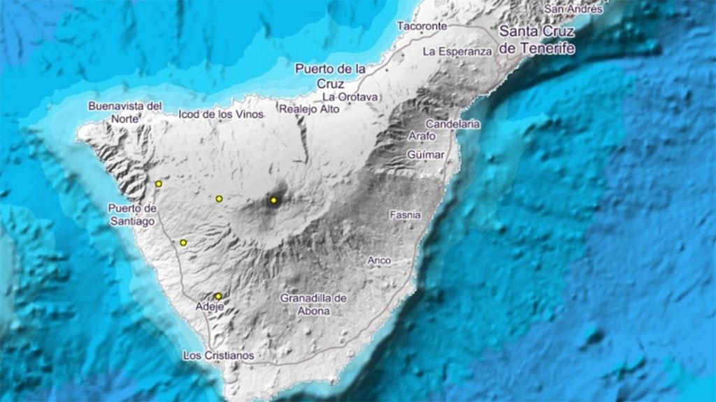 Тенерифе тоже немного потрясывает: несильно и на большой глубине под островом