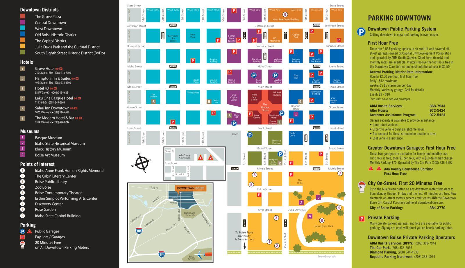 Downtown Boise Map