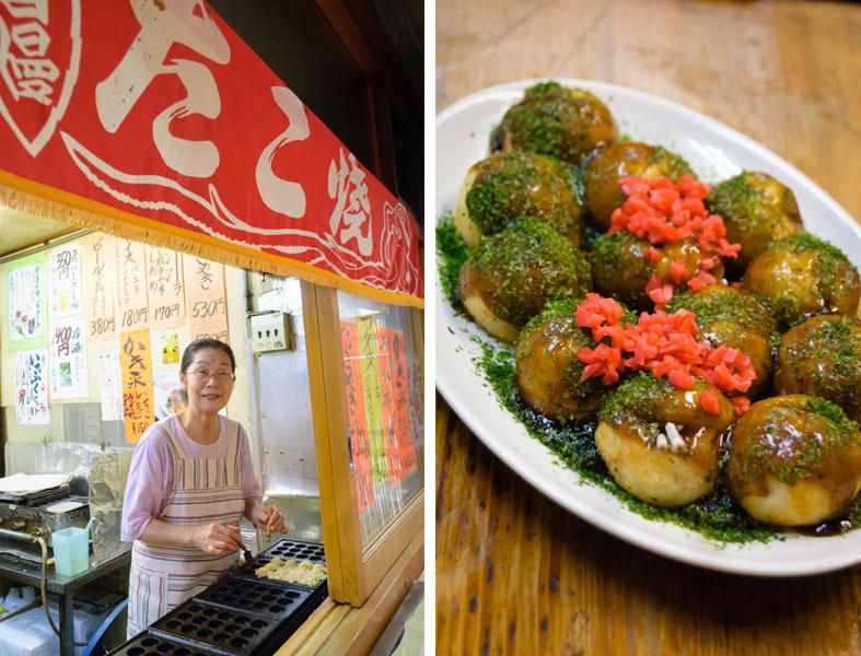 やさしく出迎えてくれるお母さんこと、中村幸子さん。たこ焼き作り30年以上のベテラン。これぞ、たこ焼きといわんばかりに王道のルックス。アツアツを召し上がれ